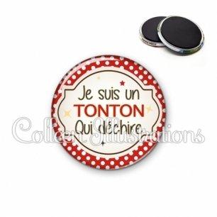 Magnet 56mm Tonton qui déchire (011ROU01)