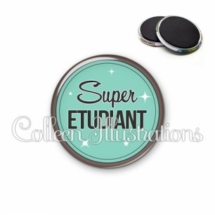 Magnet 56mm Super étudiant (012VER01)