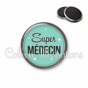Magnet 56mm Super médecin (012VER01)