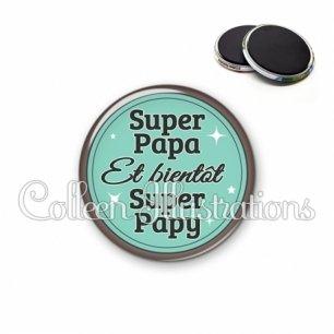 Magnet 56mm Super papa bientôt papy (012VER01)