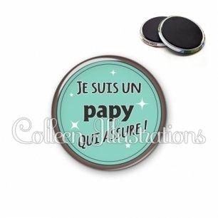 Magnet 56mm Papy qui assure (012VER01)