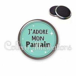 Magnet 56mm J'adore mon parrain (012VER01)