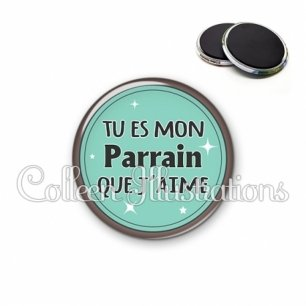 Magnet 56mm Parrain que j'aime (012VER01)