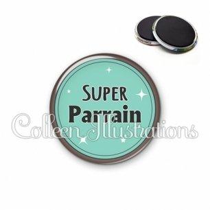 Magnet 56mm Super parrain (012VER01)
