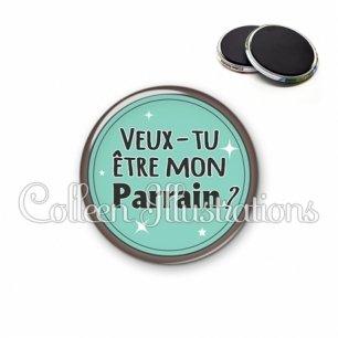 Magnet 56mm Veux-tu être mon parrain (012VER01)