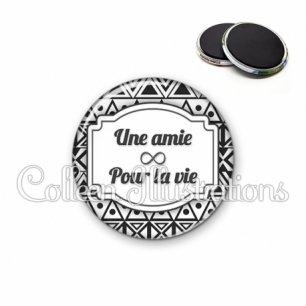 Magnet 56mm Amie pour la vie (013BLA01)