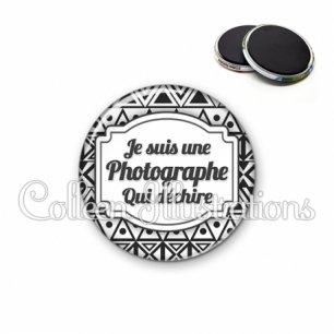 Magnet 56mm Photographe qui déchire (013BLA01)