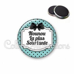 Magnet 56mm Nounou souriante (013BLE02)