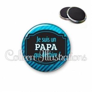 Magnet 56mm Papa qui déchire (013BLE03)
