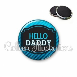Magnet 56mm Papa hello daddy (013BLE03)