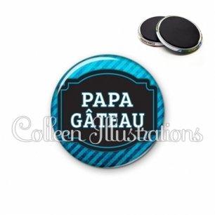 Magnet 56mm Papa gâteaux (013BLE03)