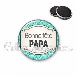 Magnet 56mm Bonne fête papa (013BLE04)