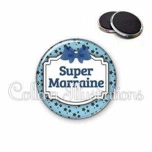 Magnet 56mm Super marraine (013BLE12)