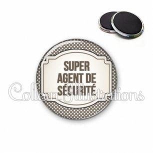 Magnet 56mm Super agent de sécurité (013GRI01)