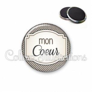 Magnet 56mm Mon cœur (013GRI01)
