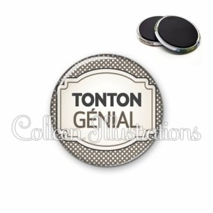 Magnet 56mm Tonton génial (013GRI01)