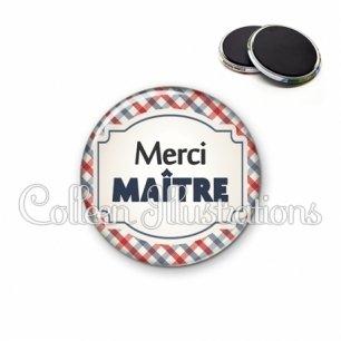 Magnet 56mm Merci maître (013MUL01)