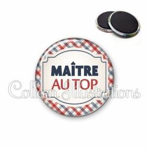 Magnet 56mm Maître au top (013MUL01)