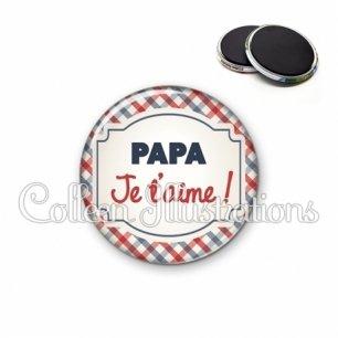 Magnet 56mm Papa je t'aime (013MUL01)