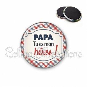 Magnet 56mm Papa tu es mon héros (013MUL01)