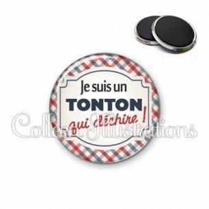 Magnet 56mm Tonton qui déchire (013MUL01)
