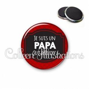Magnet 56mm Papa qui déchire (013ROU01)
