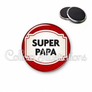 Magnet 56mm Super papa (013ROU04)