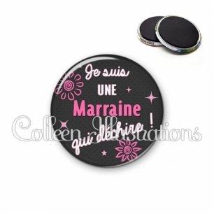 Magnet 56mm Marraine qui déchire (014GRI01)