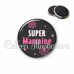 Magnet 56mm Super marraine (014GRI01)
