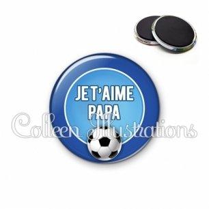 Magnet 56mm Papa je t'aime (016BLE02)
