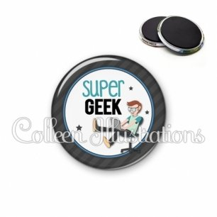 Magnet 56mm Super geek (016GRI02)