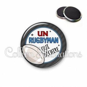 Magnet 56mm Rugbyman qui déchire (016GRI05)