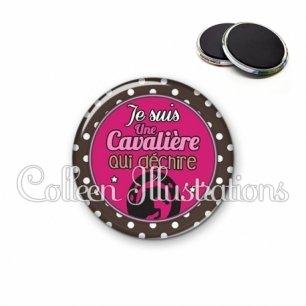 Magnet 56mm Cavalière qui déchire (016MAR01)