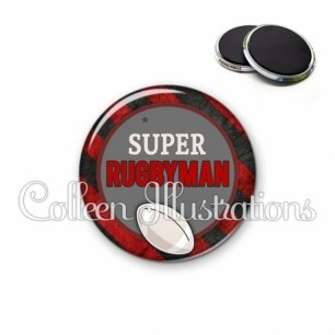 Magnet 56mm Super rugbyman (016MUL03)