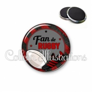 Magnet 56mm Fan de rugby (016MUL04)