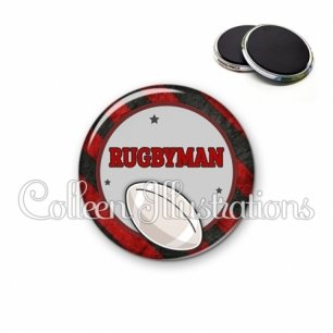 Magnet 56mm Super rugbyman (016MUL11)