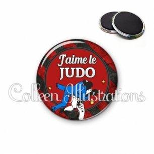 Magnet 56mm J'aime le judo (016MUL13)