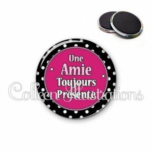 Magnet 56mm Amie toujours présente (016NOI01)