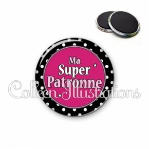 Magnet 56mm Super patronne (016NOI01)