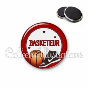 Magnet 56mm Basketteur (016ROU04)