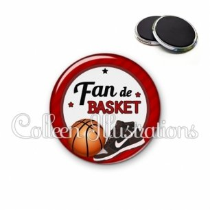 Magnet 56mm Fan de basket (016ROU04)