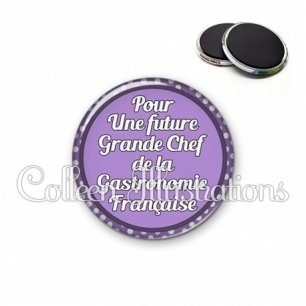 Magnet 56mm Future grande chef de la gastronomie française (016VIO03)
