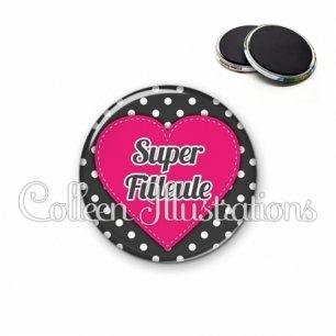 Magnet 56mm Super filleule (015NOI01)