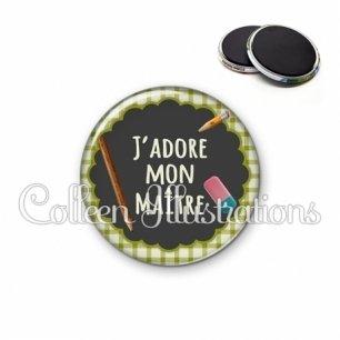 Magnet 56mm J'adore mon maître (017VER01)