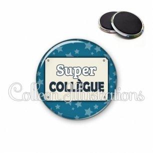 Magnet 56mm Super collègue (018BLE01)
