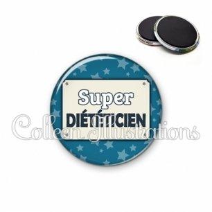 Magnet 56mm Super diététicienne (018BLE01)