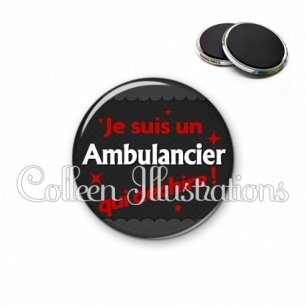 Magnet 56mm Ambulancier qui déchire (019GRI02)