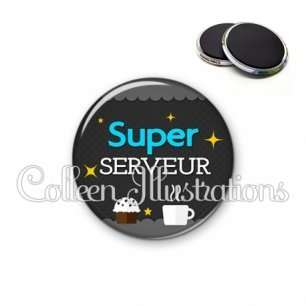 Magnet 56mm Super serveur (019GRI03)