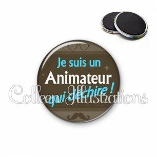 Magnet 56mm Animateur qui déchire (019MAR01)
