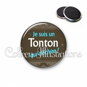 Magnet 56mm Tonton déchire (019MAR01)